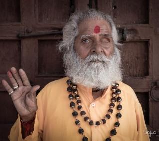 Holi men, Udaipur, India.