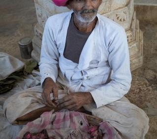 Man, Rainapur temple, India.
