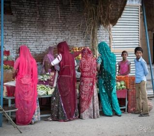 Shopping street, Narlai, India.