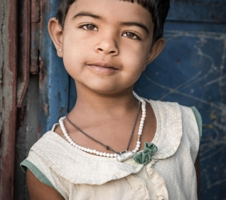 Little girl, Narlai, India.
