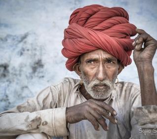 Man, Narlai, India.