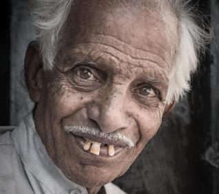 man smilling, Jodhpur, India.