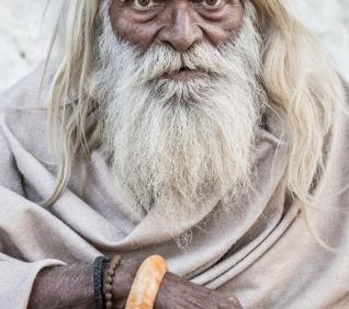 Old man, Puskar, India.
