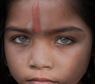 Brahma girl, Pushkar, India.