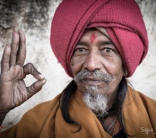Man with turbant, Pushkar, India.