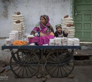 Woman selling, Pushkar, India.
