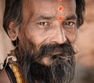 Holi men, Pushkar, India.