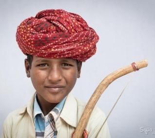 Boy and music, Pushkar, India