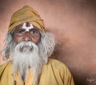 Old man in Pushkar, India.