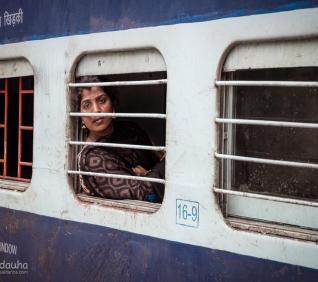 Woman, train, Cochin