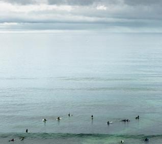 Surfistas, praia do Algodio, Ericeira.