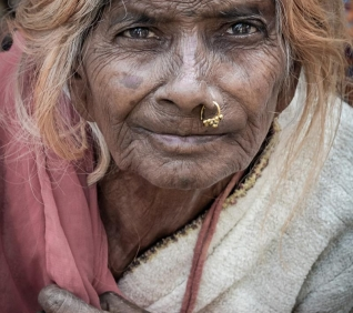 Woman, Udaipur market, India.