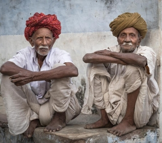 Two friends, Narlai, India.