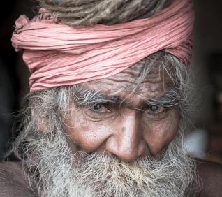 Holi man, Pushkar, India.