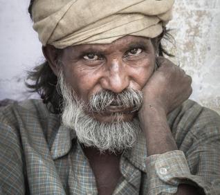 Homeless man, Pushkar, India.
